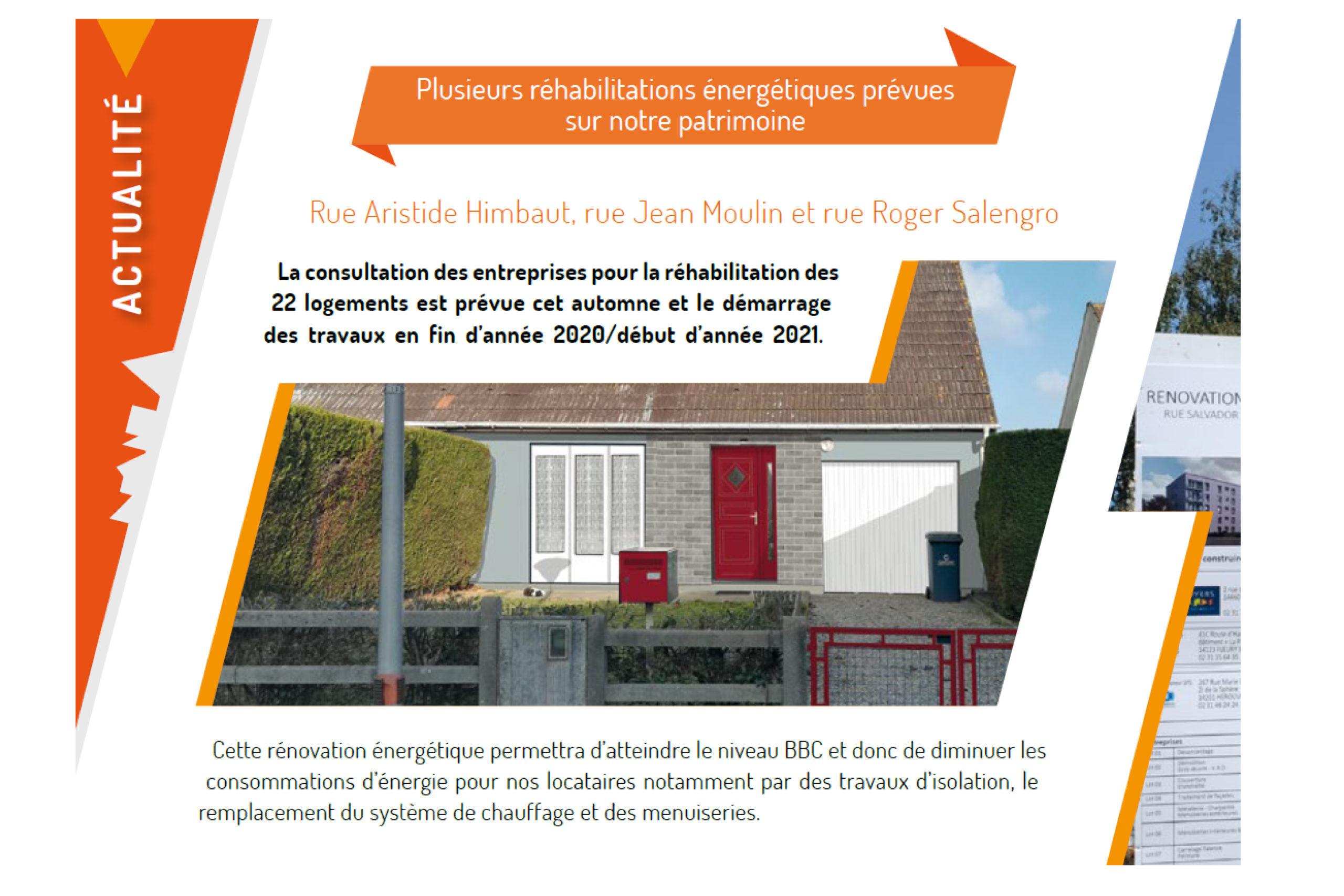 Plusieurs réhabilitations énergétiques prévues sur le patrimoine des Foyers Normands