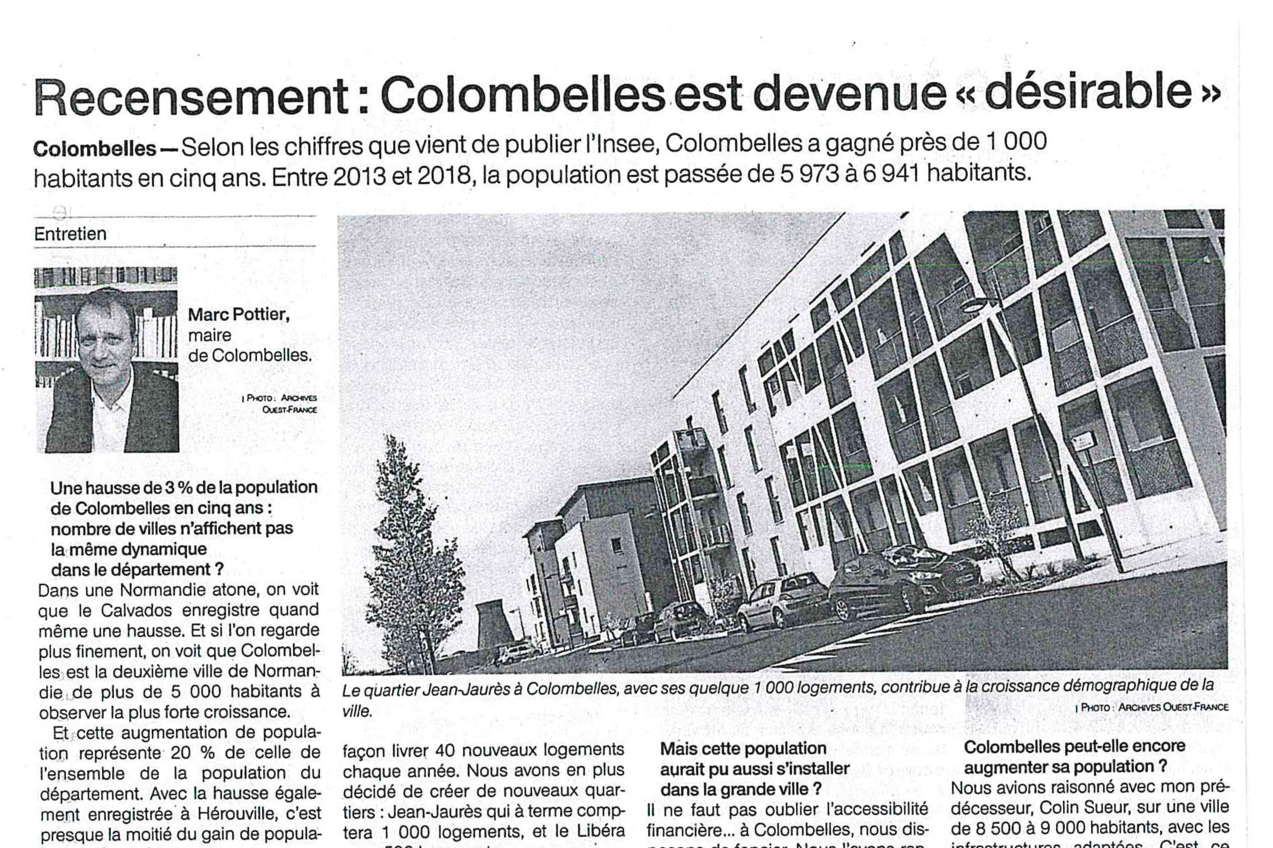 Colombelles a gagné près de 1000 habitants