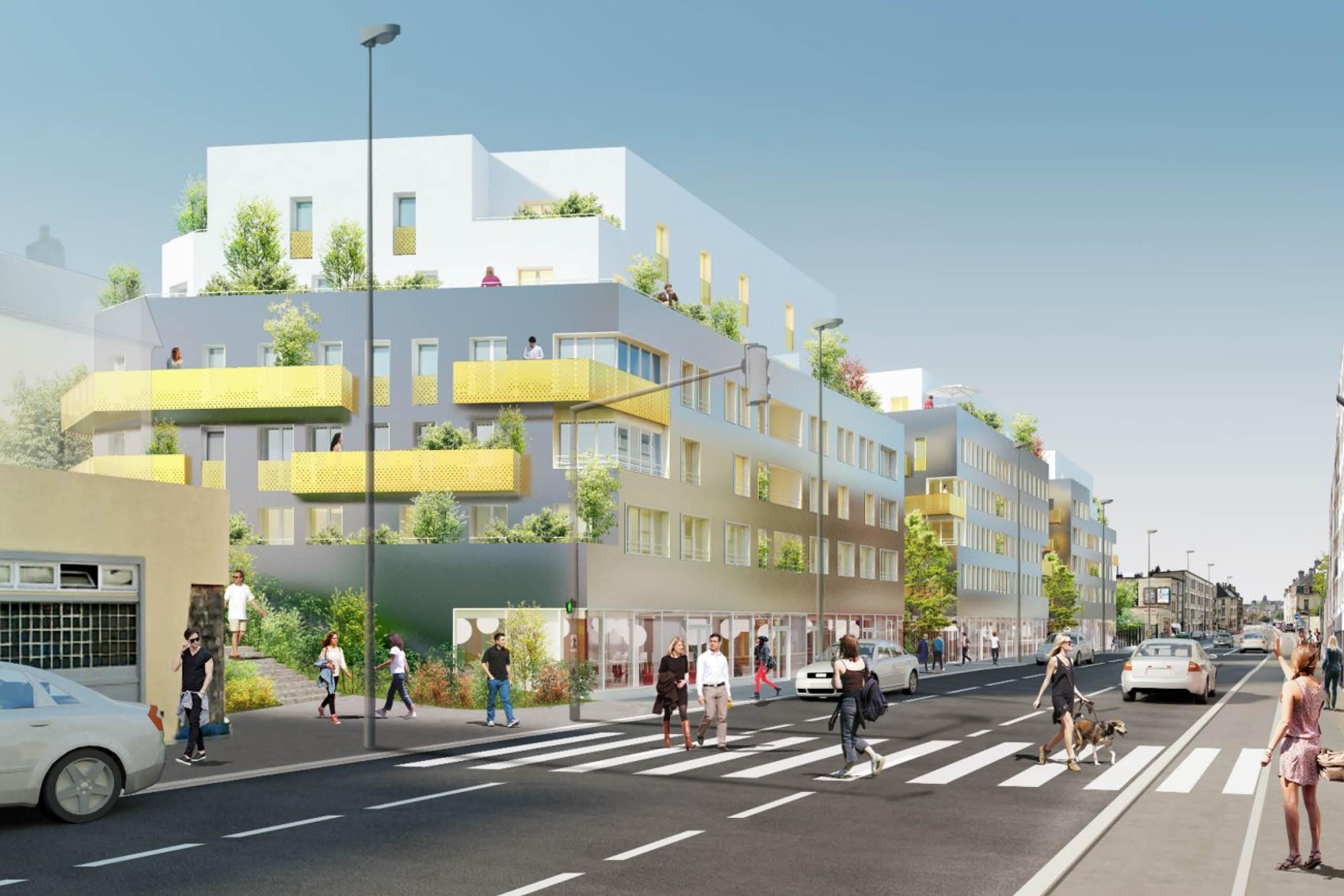 Ensemble immobilier à Caen